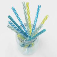 Clear Drinking Straw with Spiral Stripe