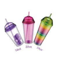 Plastic Tumbler with Dome Lid