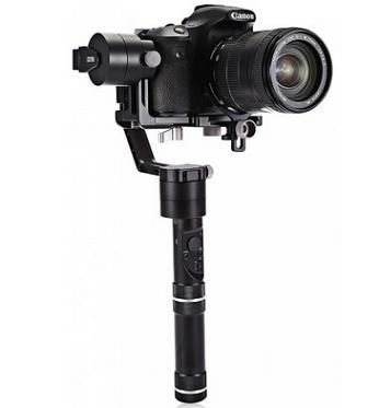 Zhiyun Crane 3-axis Handheld Gimbal with 360-degree Unlimited Rotary Axes Honeycomb Core for Mirrorless Camera - Black