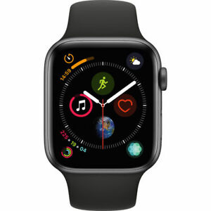 APPLE WATCH SERIES 4 44MM GPS CELLULAR UNLOCKED SPACE GRAY BLACK SPORT BAND