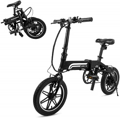 iDeaPLAY P10 12 inches Folding Electric Bicycle E-Bike 350W 36V 4.0Ah Lithium Battery - Black