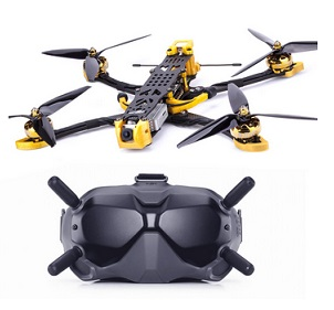 Flywoo Mr.Croc-HD 285mm 7 Inch 6S F4 Bluetooth FPV Racing Drone w/ DJI FPV Air unit & Goggles - BNF-DJI