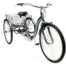 Schwinn Adult Tricycle 3 Wheel Bicycle Bike Three Wheeler Beach Cruiser Gray