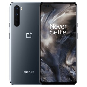 OnePlus Nord 5G Smartphone Global Version 6.44 Inch Fluid AMOLED 1080 x 2400 402PPI Screen Qualcomm Snapdragon 765G Android 10.0 8GB RAM 128GB ROM Dual Front Quad Rear Camera 4115mAh Battery - Gray Onyx