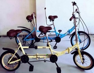 Ultra Lightweight Portable Folding 20in Single Speed Tandem Bicycle NEW