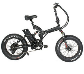 20*4.0 Kenda Fat Tire Folding Electric Electric Bicycles All Road 48V 500W Motor E-Bike