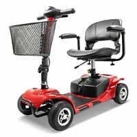 New Innuovo W3431 Folding Electric Powered Mobility Scooter 4 Wheel Travel Red