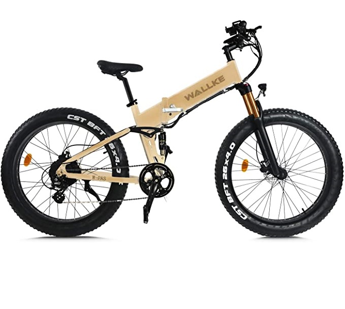 Wallke X3 Pro 26in Upgrade The Frame Fat Tire Electric Bicycle 48V14AH Battery Adult Auxiliary Bike 750W Mountain Snow E-Bike