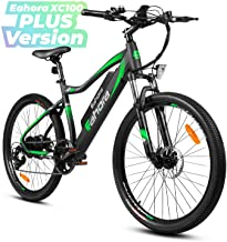 eAhora XC100 Plus 26in Wheel 48V 10.4Ah Mountain Electric Bike Cruise Control Removable Lithium Battery 350W Urban Commuter Electric Bicycle for Adults Power Regeneration Tech Max 80 Miles 7 Speed