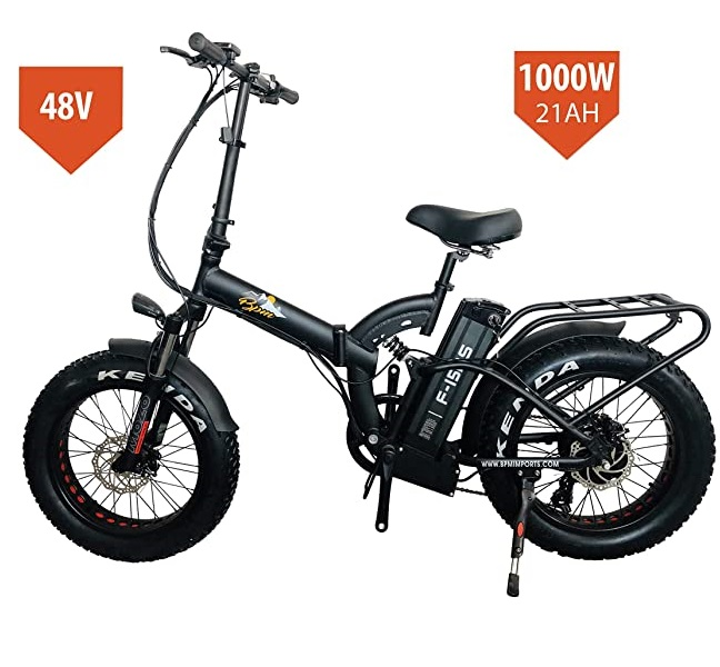 Bpmimports BPM F15RS 1000W 21AH Fat Tire 48v Electric Bicycle Folding 20\