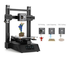 Creality 3D CP-01 3-in-1 DIY 3D Printer Modular Machine Kit Support Laser Engraving / CNC Cutting 200*200*200 Printing Size With 4.3inch Screen/Power Resume/Removable Glass Plate/Intelligent Leveling